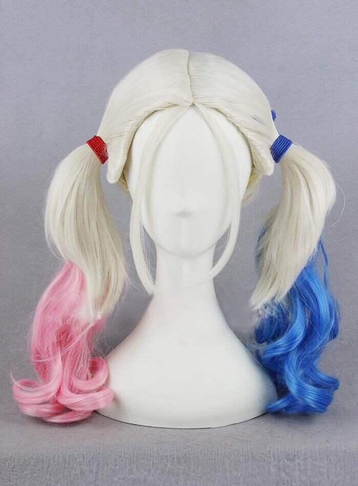 厂家直销自杀小队 小丑女哈莉奎茵造型cos渐变假发cosplay假发