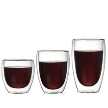 厂家直销创意蛋形玻璃水杯 双层隔热茶杯 耐热玻璃杯 玻璃咖啡杯