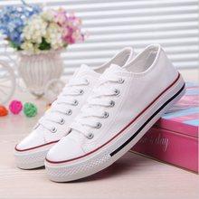 廠家直銷新款透氣帆布鞋女小白鞋韓版潮情侶學生板鞋男女休閑鞋子