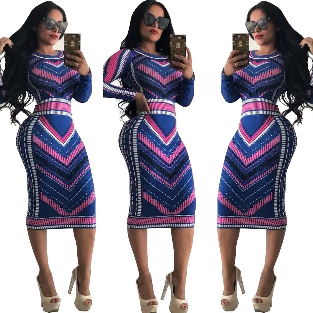 歐美爆版多色印花連衣裙獨立站大爆款wish速賣通ebay上架出單現貨
