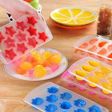 日式创意多造型优质加厚冰格模具 塑?#31995;?#37096;硅胶可弹式冰块制冰盒