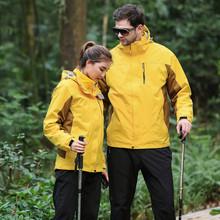 廠家直銷男女兩件套沖鋒衣 情侶款防風保暖工作服光板定做 印LOGO
