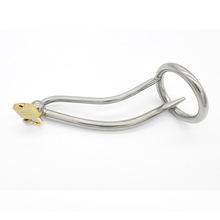 男用不锈钢金属贞洁器cb6000尿导管阳具锁阴茎锁A059