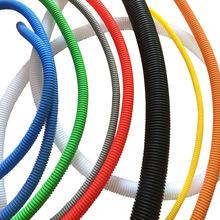 廠家直銷開口塑料阻燃PP波紋管紅色波浪管線束PE穿線汽車線束軟管