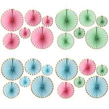 纸花扇装饰背景墙diy纸扇花球套装商场挂饰橱窗布置生日婚礼拉花