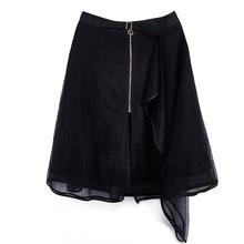 玛妮尔【KQ0529089】2018女装新款网纱连衣裙欧版百搭蕾丝半身裙