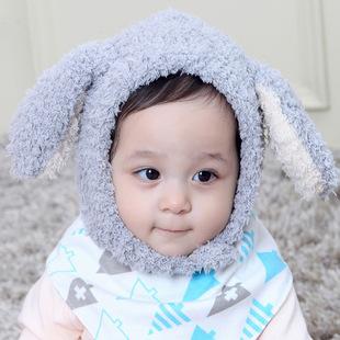 宝宝珊瑚绒帽