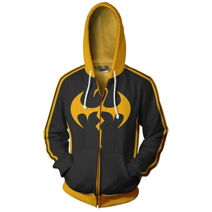 superhero movie iron fist <strong>cosplay<\/strong> costumes zipper