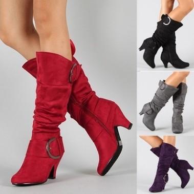 2018外贸速卖通WISH货源欧美女鞋女靴皮带扣大码40-43常年不下架