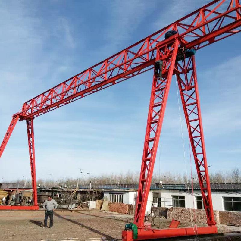 厂家定制单梁花架式10吨龙门吊 优质mh型电动葫芦花式门式起重机图片