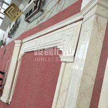 工厂直销 欧式简约背景墙 别墅客厅设计 大理石内墙砖电视墙设计