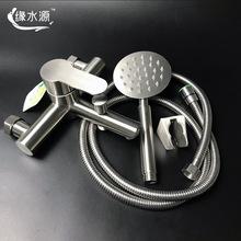 广东厂家热销304不锈钢浴缸龙头简装淋浴花洒套装冷热拉丝水龙头