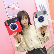 一件代发夏季新款外贸创意彩虹相机包欧美时尚女包个性搞怪斜挎包