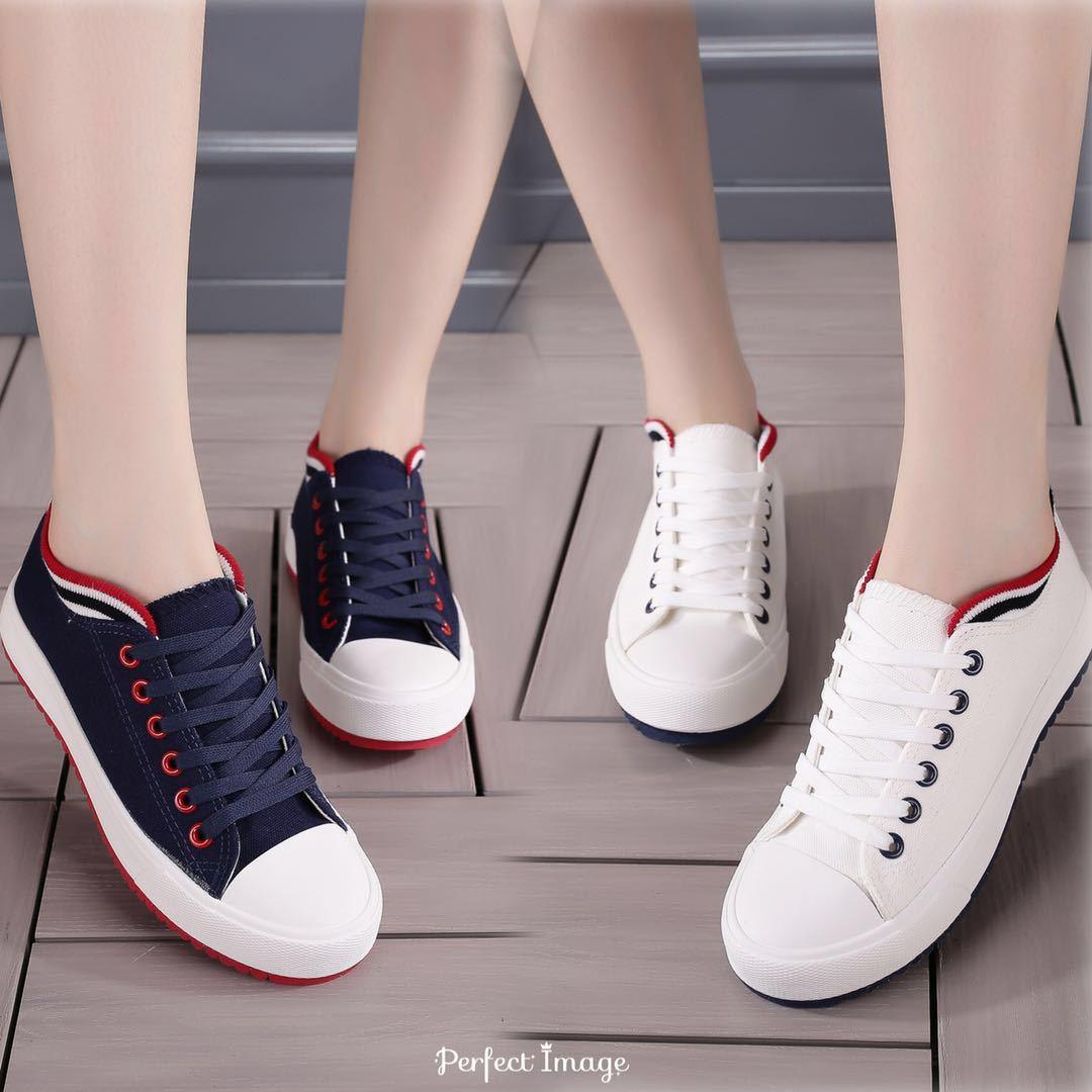 新镶边休闲帆布鞋纯色百搭休闲鞋低帮薄底布鞋潮厂家直销学生鞋