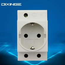 16A欧规德标配电柜德式模数化电源插座 欧标配电箱德式导轨式插座