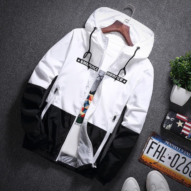 2018秋季新款韩版拼色男式夹克休闲加肥加大码薄款学生外套