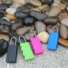 拉杆箱小锁头塑料密码锁小挂锁卡通迷你柜子锁厂家现货定制彩色