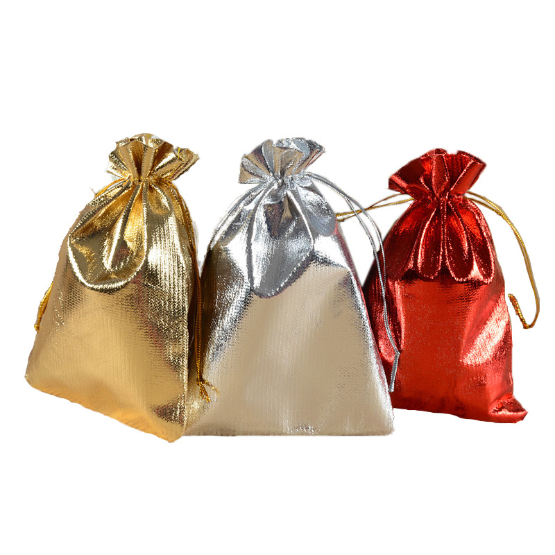 金银布袋 红金布束口袋 珠宝首饰文玩礼品收纳包装袋 定做印logo