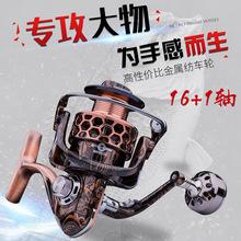 日本进口佐崎精工渔轮 全金属纺车轮17轴海钓轮7000# 远投轮