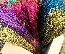韩国七彩柳花千骨 地摊展会七彩柳鲜花 混色批发10元模式家居真花
