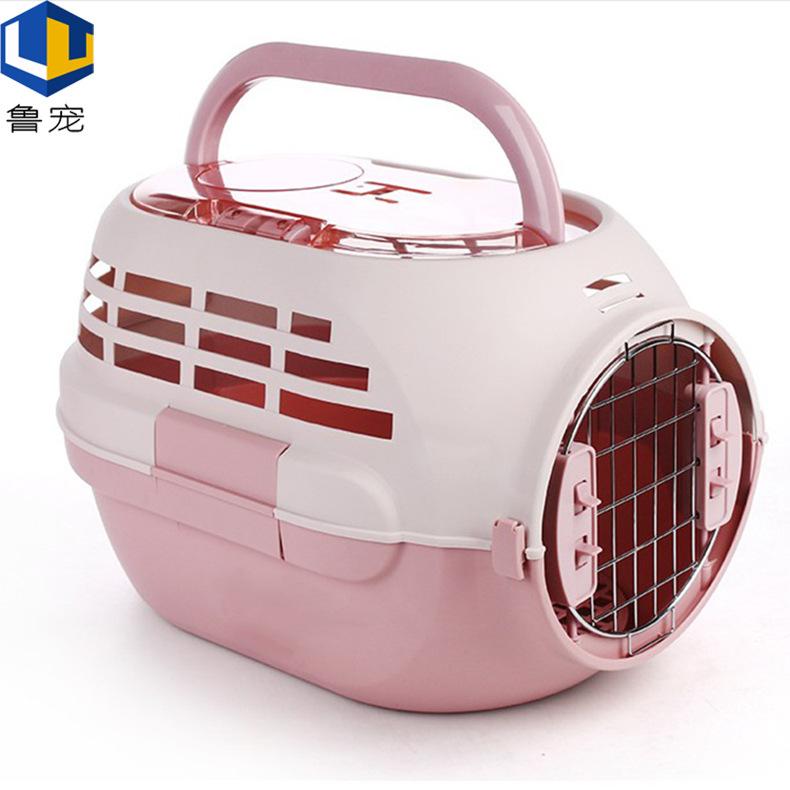 带天窗猫咪航空箱 透气便携外出空运箱手提式旅行托运 宠物航空箱