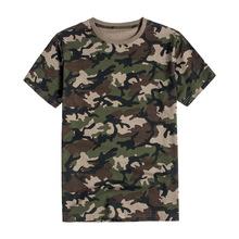 廠家批發叢林迷彩服男女純棉短袖t恤軍訓拓展戶外男式寬松迷彩