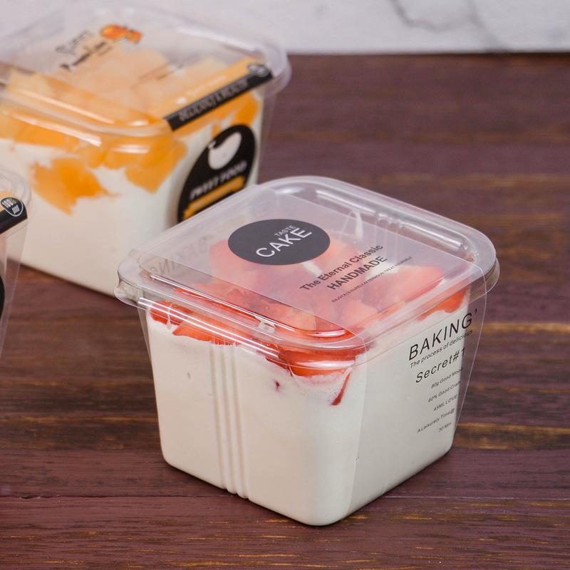烘焙包装透明蛋糕盒慕斯蛋糕盒慕斯盒子酸奶杯果冻杯布丁杯一次性