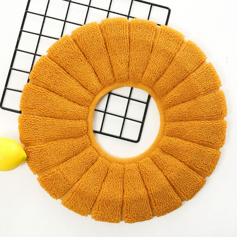 马桶坐垫新款马桶垫针织涤纶坐便垫纯色马桶套清洁垫厂家直销定制