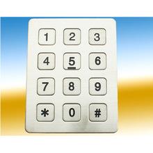 12位金属按平板按键 工业电话机专用按键盘 自助终端设备数字键