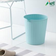厂家直销大号塑料卡袋垃圾桶 家用圆形垃圾桶 免压圈垃圾桶批发