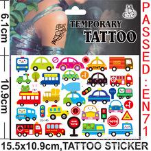 儿童纹身贴女孩贴纸卡通防水安全无毒贴画宝宝可爱水印纹身贴纸