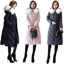 棉衣/棉服2018年冬季舒?#39135;?#34966;女长款加厚保暖时尚简约百搭