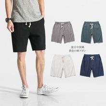男士短褲男夏季薄款居家白色寬松休閑大褲衩外穿棉麻亞麻五分褲子