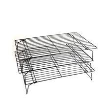 三层不沾网架彩盒装  折叠冷却架 晾饼架晾网 蛋糕架 烘焙工具