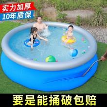 加厚圆形夹网游泳池家用超大号儿童充气水池大型家庭成人泳池小孩