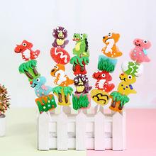 创意48克恐龙串串纯果汁软糖水果糖棒棒糖糖果卡通糖果批发