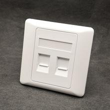 厂家供应 86型2双口网络信息插座电话语音面板 可OEM贴牌