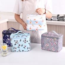 新款花色方型手提便當包帶飯午餐包加厚鋁膜保溫保鮮袋包定制