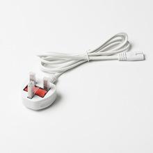 大英规白色1.5米8字尾三插头电源线英式英规带保险丝八字尾电源线