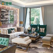大理石茶几电视柜组合客厅家具台面后现代简约港式轻奢风格正方形