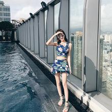 泳衣女分体保守遮肚显瘦二件套温泉小香风小胸聚拢性感韩国游泳衣