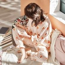 睡衣服纯棉产后月子女春秋冬季孕妇产妇长裤12月份11怀孕期简约衣