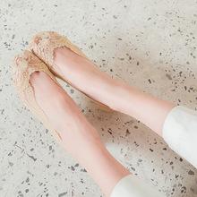 蕾丝船袜女袜子简约春夏季蕾丝船袜无痕防脱浅口硅胶防滑隐形袜子