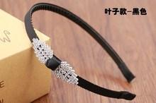 包邮日韩儿童防滑带齿学生领结叶子发箍韩版中大童头箍小女孩发卡