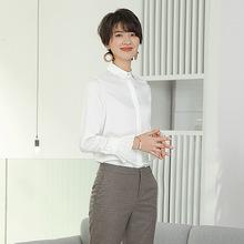 雪纺衬衫女春季2019新款韩版宽松白色衬衣职业休闲娃娃领短款上衣