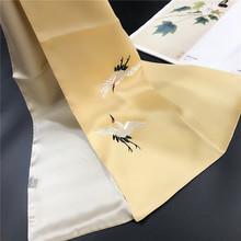 中秋佳節新款蘇繡真絲圍巾純手工刺繡繡花雙層桑蠶絲刺繡圍巾禮品