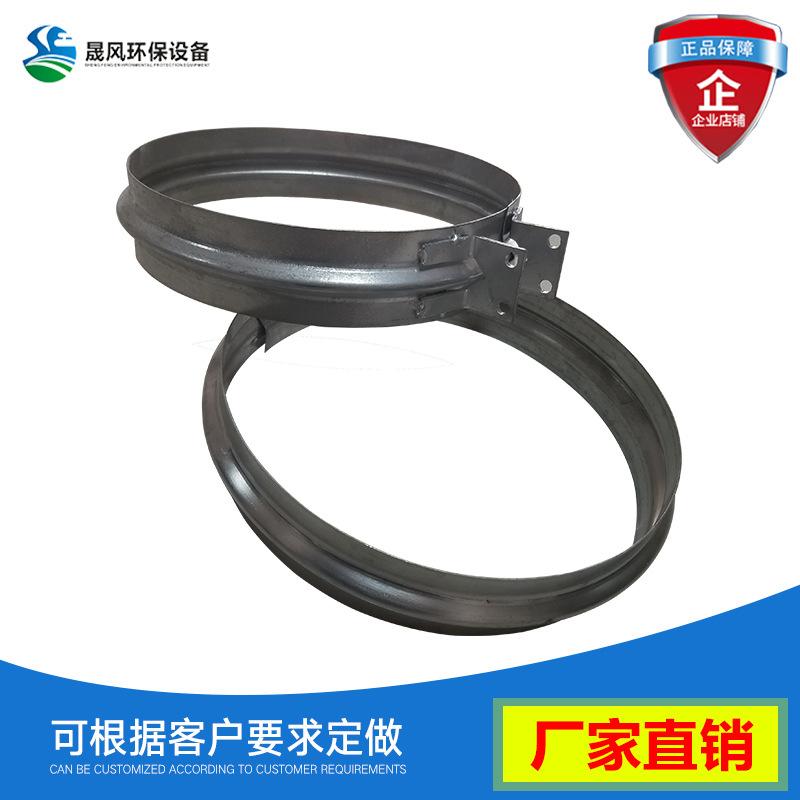 不锈钢管夹风管抱箍V形快接卡箍喉箍镀锌圆管抱箍管卡风管吊卡