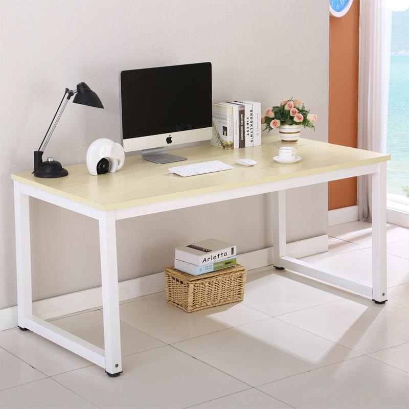 简易钢木办公桌员工电脑桌家用书桌单人写字台书房长条桌厂家直销