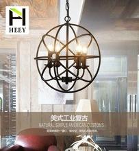美式乡村铁艺球形吊灯工业复古工程怀旧客厅吊灯卧室餐厅装饰吊灯