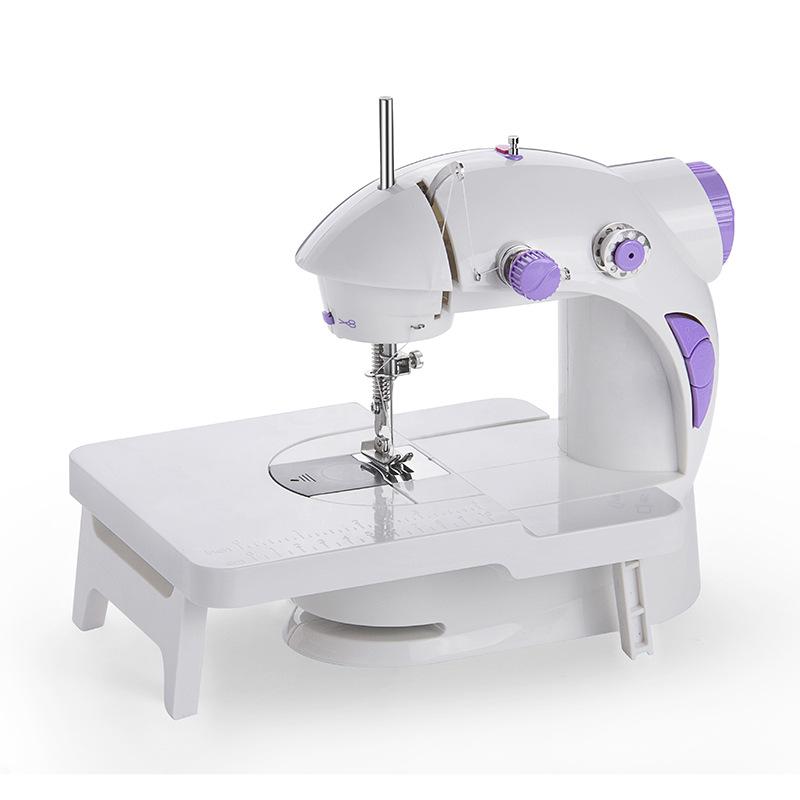 芳华缝纫机201型家用电动迷你多功能小型手动吃厚微型缝纫机